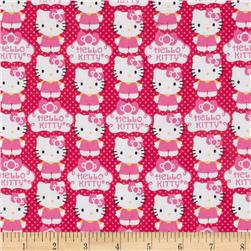 Hello Kitty Sanrio Cupcake Logo Hot Pink