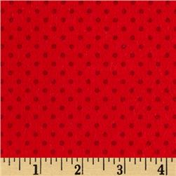 Flannel Small Dot on Red Tonal