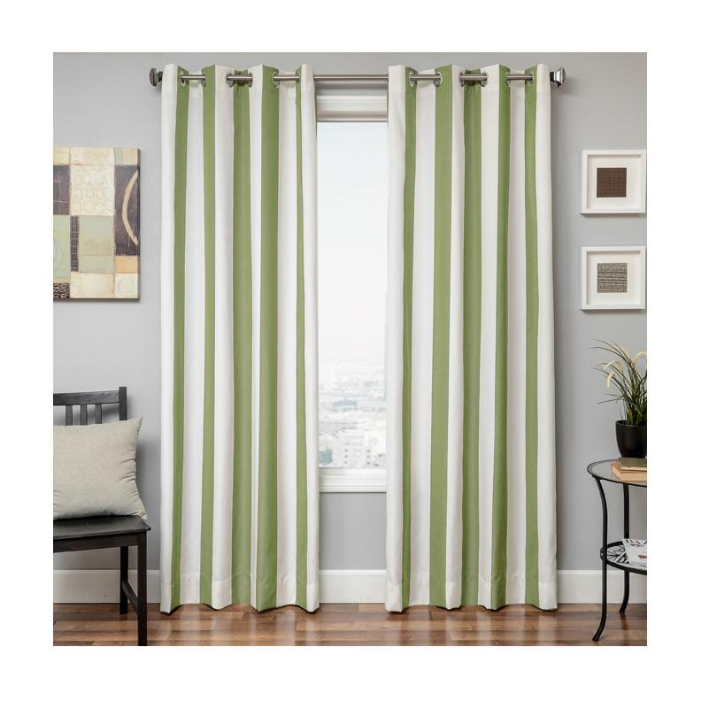 Sunbrella 84'' Grommet Stripe Outdoor Panel Natural/Ginko