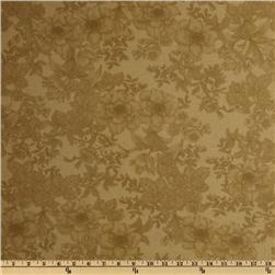 108'' Wide Tonal Bouquet Quilt Backing Cream