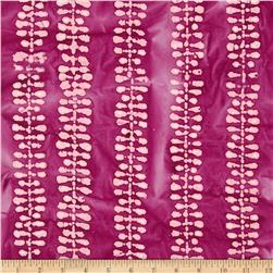 Indian Batiks Bean's Stripe Magenta/Pink