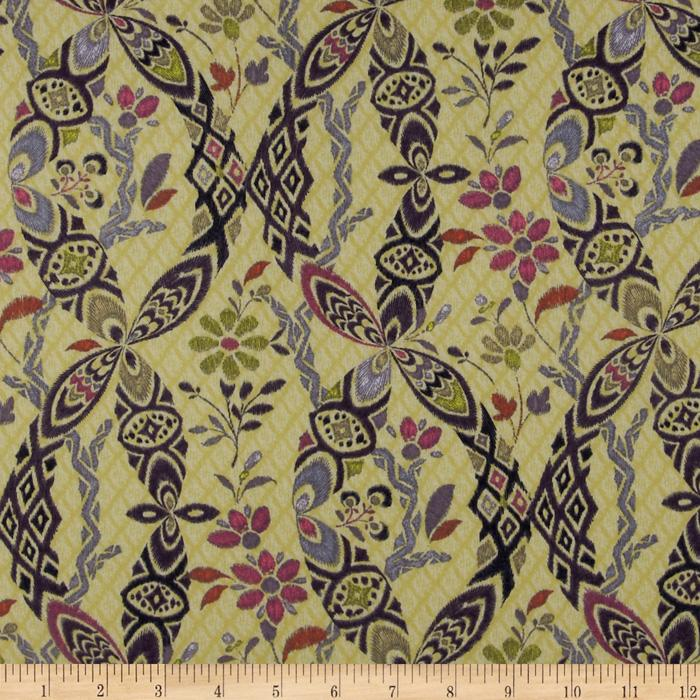Bromley Voile Ikat Damask Citron