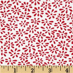 Moda Weeds Tiny Weeds White/Red