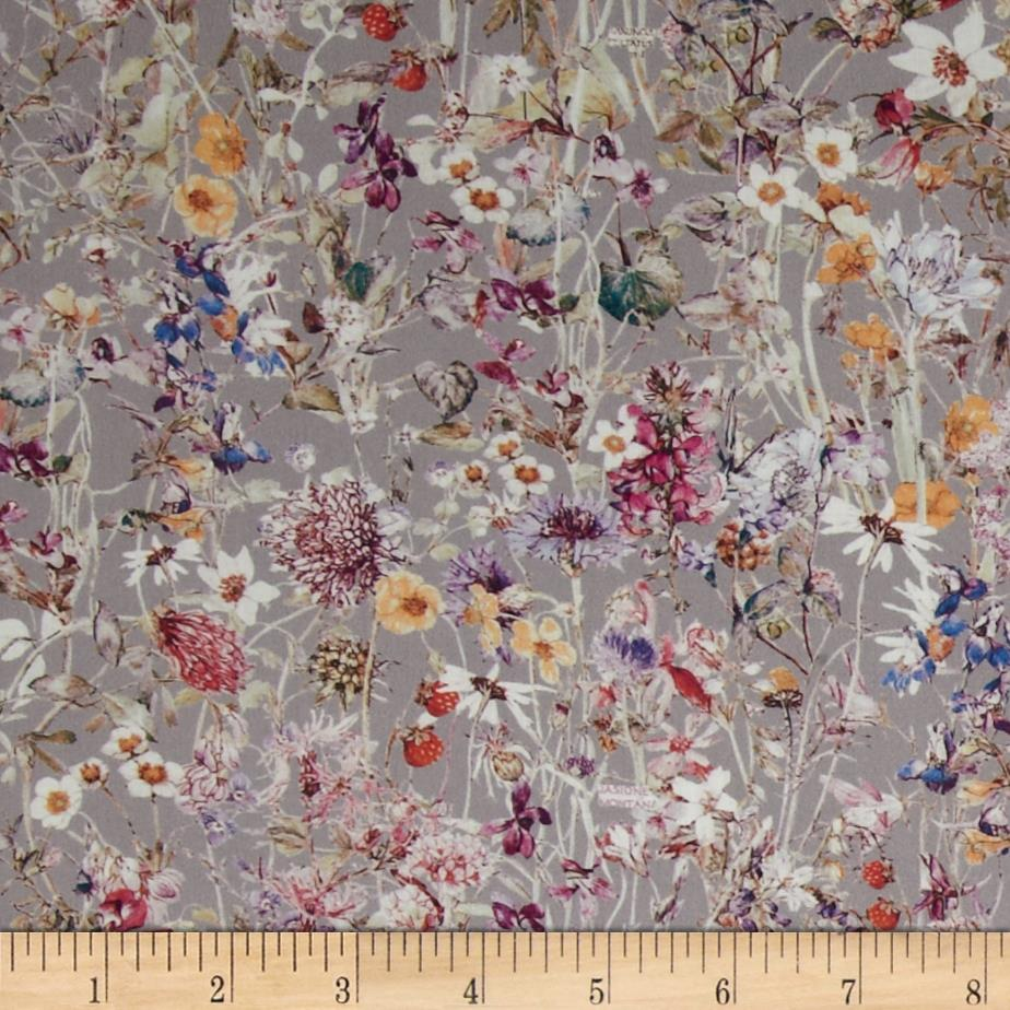 Liberty of London Tana Lawn Wildflowers Grey