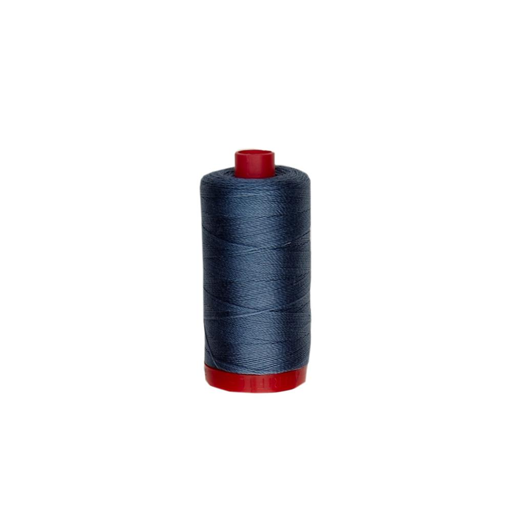 Aurifil 12wt Embellishment and Sashiko Dreams Thread Medium Blue Grey
