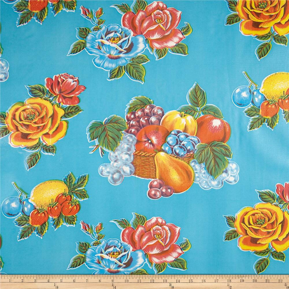 Oil Cloth Limones Light Blue
