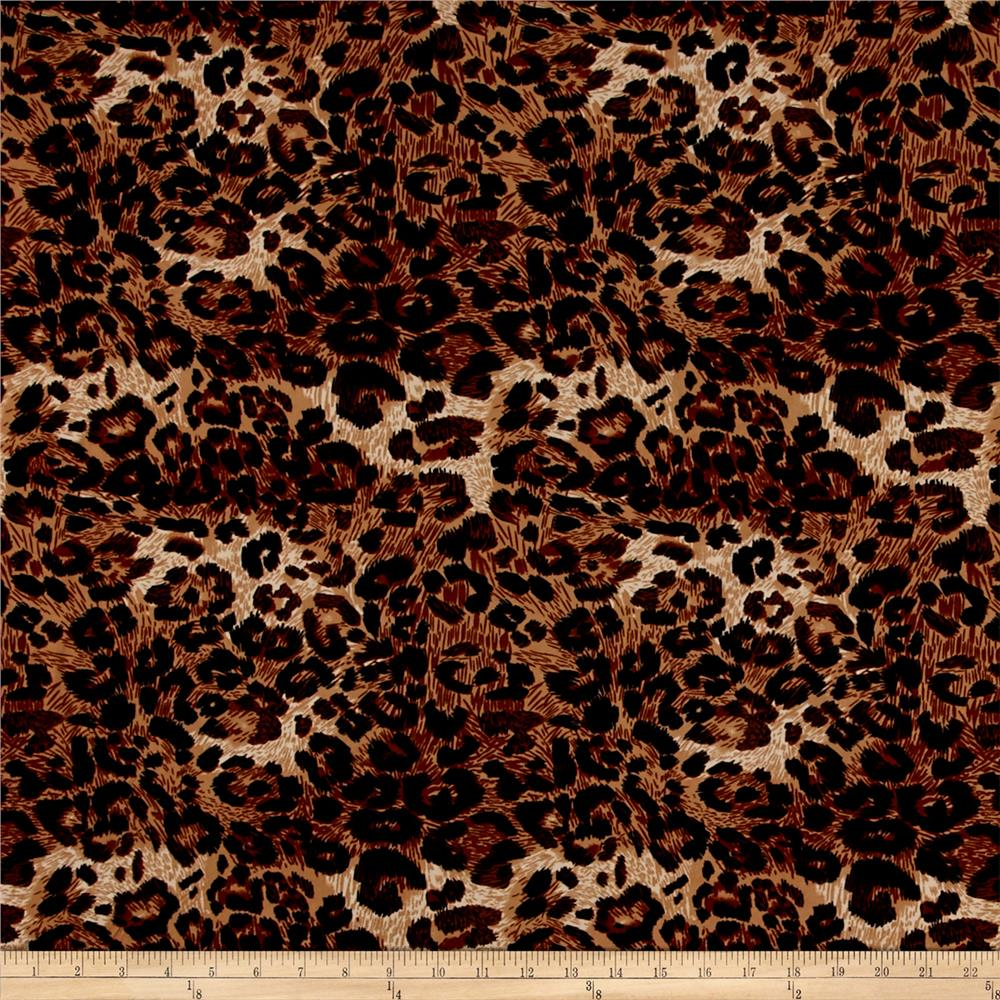 Stretch ITY Knit Animal Print Brown