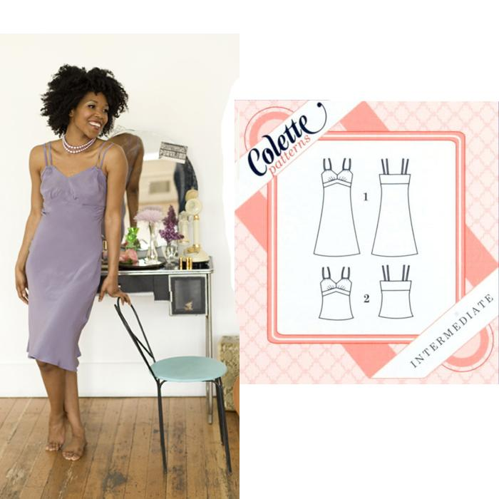 Colette Cinnamon Slip Dress/Camisole Pattern