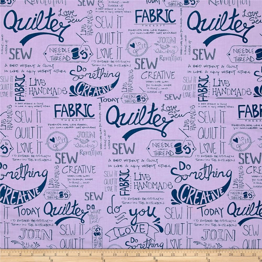 Sew It- Quilt It- Love It! Words Purple