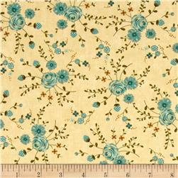 Moda Prints Charming Floral Cream/Teal
