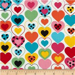 Kanvas Luv Bugs Heart Felt White/Multi