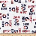 Homefront Girl I Love My Hero Words White