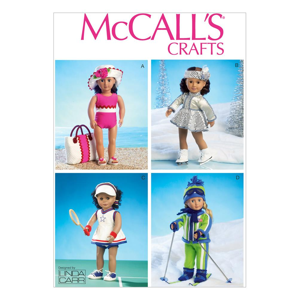 "McCall's Clothes For 18"" (46cm) Doll Pattern M6938 Size OSZ"