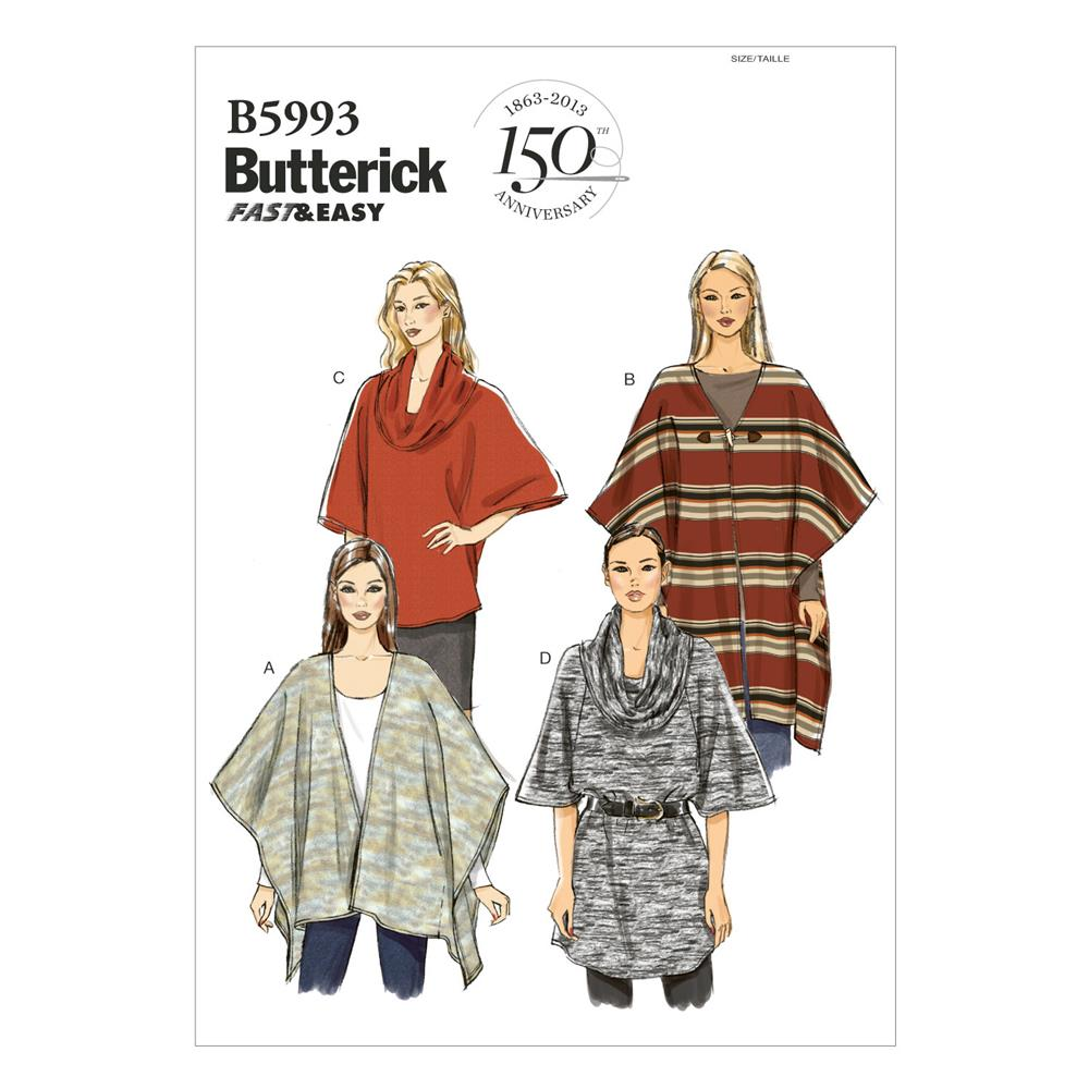 Butterick Misses' Wrap, Top and Tunic Pattern B5993 Size 0Y0