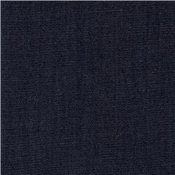 Cotton Rayon Denim Dark Wash Colonial Blue
