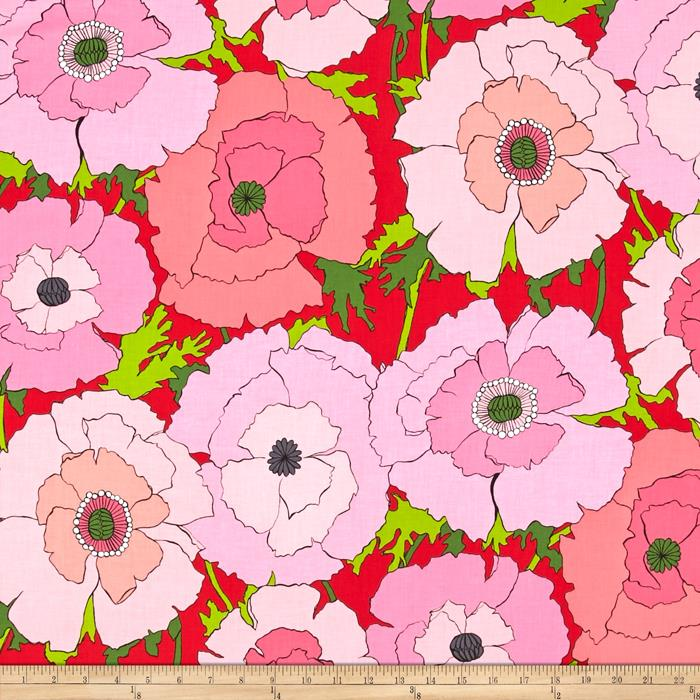 Alexander Henry Folklorico Mexican Poppy Red/Pink