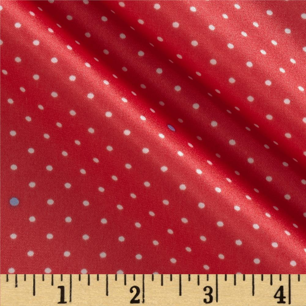 Michael Miller Cynthia Rowley Oh Baby Pin Dot Coral Fabric
