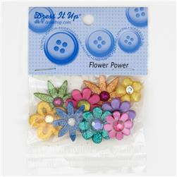 Dress It Up Embellishment Buttons  Flower Power