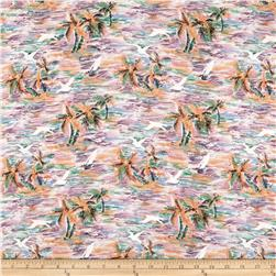 Hawaiian Palms Rayon Challis Multi