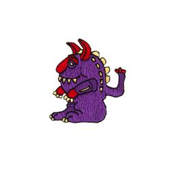 Monster Applique Purple
