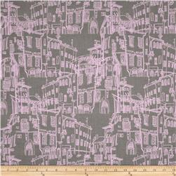 Riley Blake Pepe in Paris Buildings Grey Fabric