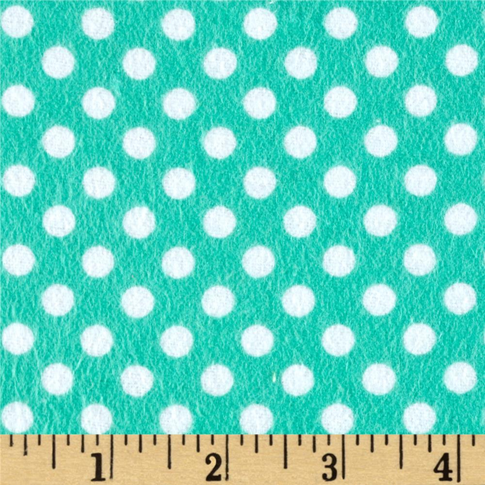 Flannel Polka Dots Spearmint