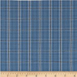 Yarn Dyed Poly Suiting Plaid Blue/Black