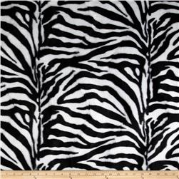 Velboa Faux Fur Zebra White/Black
