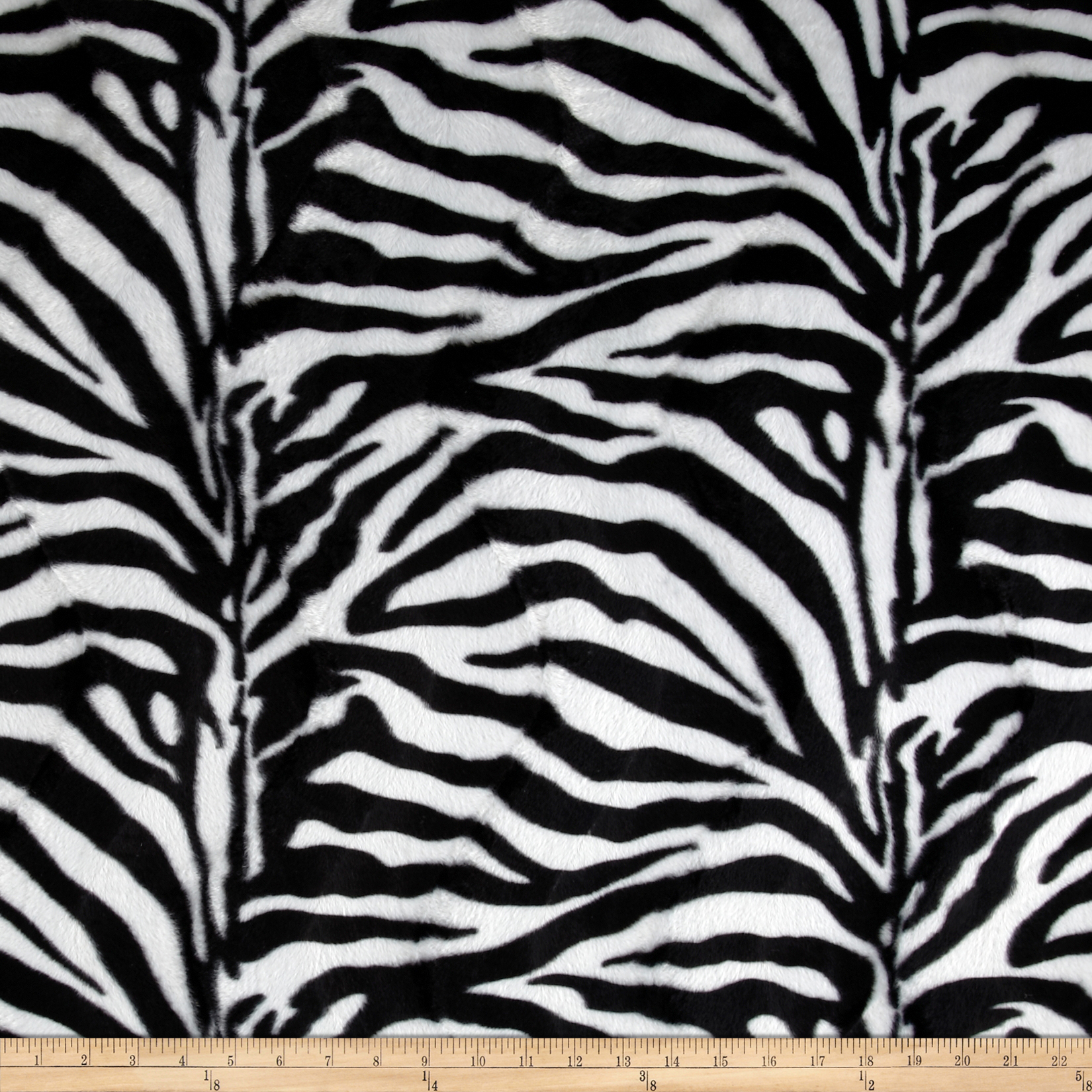 Velboa Faux Fur Zebra White/Black Fabric
