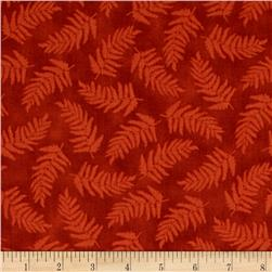 Nature's Glory Fern Tonal Rust Brown