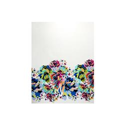 Stretch Poplin Print Double Border Floral Multi