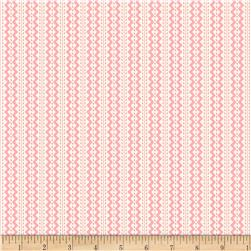 Back Porch Basics Rickrack Stripe Pink