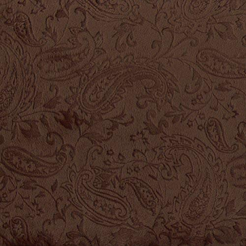 Minky Cuddle Embossed Paisley Brown