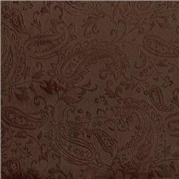 Shannon Minky Paisley Cuddle Embossed Brown