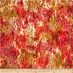 Indian Batiks Pussy Willow Rust