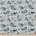 Riley Blake Round Up Paisley Blue