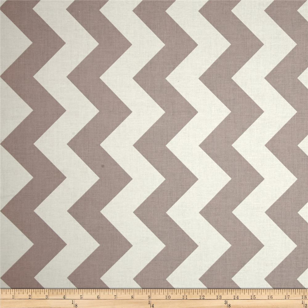 Riley Blake Chevron Large Grey