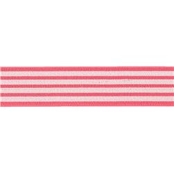Dritz 1'' x 1 Yard Fold-Over Elastic Stripe Coral/Tan