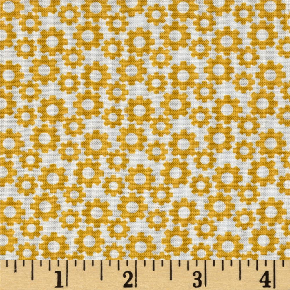 Fabric Freedom Construction Gears Yellow