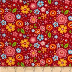 Riley Blake Flannel My Sunshine Large Floral Pink
