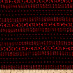 Space Links Rayon Challis Black/Cherry