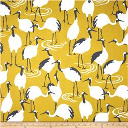 Dwell Studio Winter Crane Blend Golden Rod