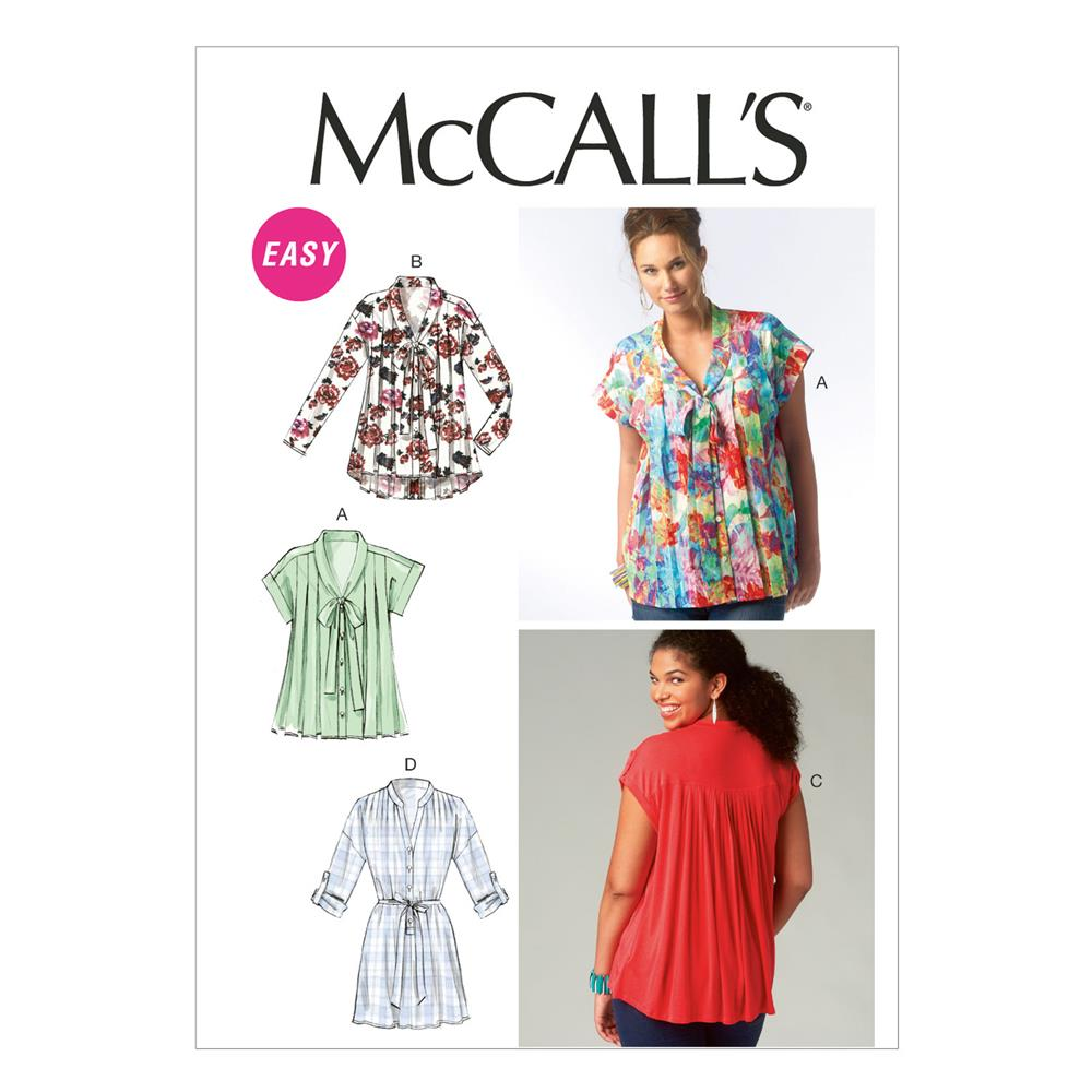 McCall's Misses' Tops and Tunic Pattern M6899 Size 0Y0