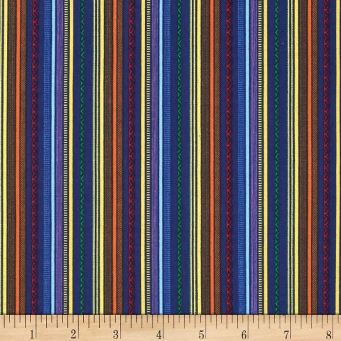 Truck Stop Patterned Stripe Blue