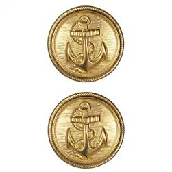 Metal Button 1 1/8'' Anchors Away Gold