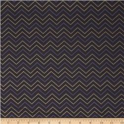 Marrakesh Metallic Chevron Grey