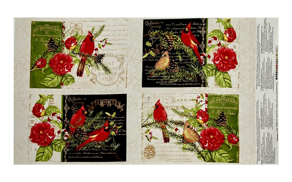 Christmas in the Wildwood 25'' Placemat Panel Multi Fabric