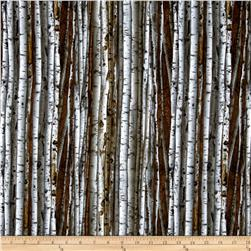 On The Wild Side Flannel Birch Tree Natural