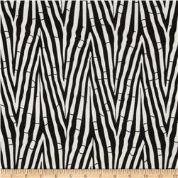 Ponte de Roma Bamboo Sticks Abstract Black/Ivory Fabric
