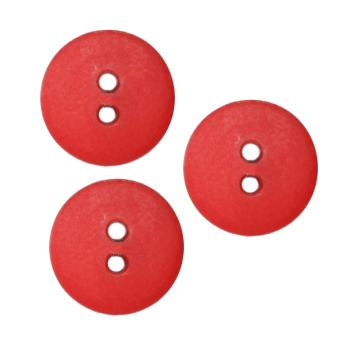 Fashion Button 5/8'' Peoria Red